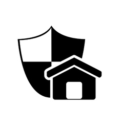 shield and house icon vector image