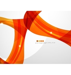 Smooth wave line abstract background vector image vector image