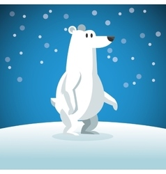 Snowbear icon Snowing background graphic vector image