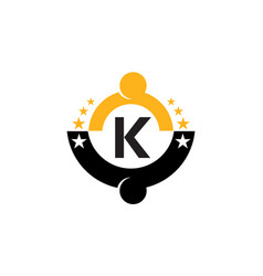 Success life coaching initial k vector