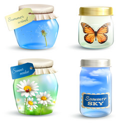 Summer jar set vector