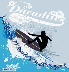 surfing waves vector image