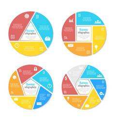 templates for circle diagram options web design vector image