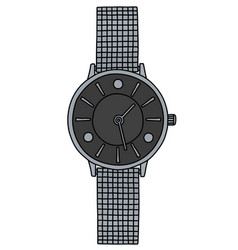 The silver ladies wrist watches vector