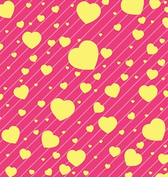 Valentine Day and yellow Heart on Pink background vector