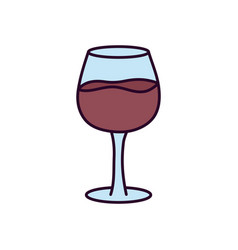Wine glass drink on white background vector