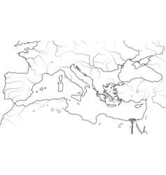 World map mediterranean region vector