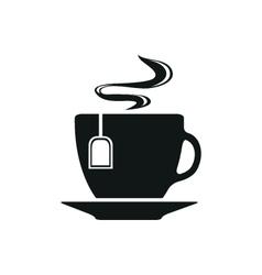 Cup with tea bag symbol icon vector image