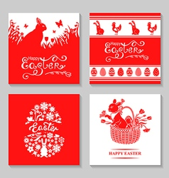 easter card set vector image vector image