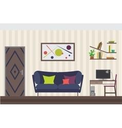 Furniture Set Flat for you vector image