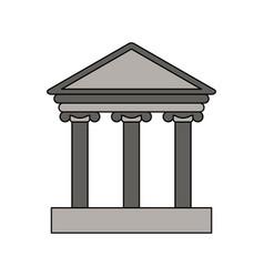 gray color graphic parthenon icon vector image