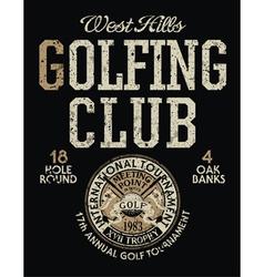 International golf tournament vector image