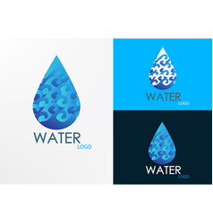 logo wave and water vector image vector image