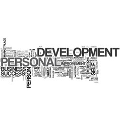 What is personal development text word cloud vector