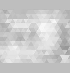 abstract grey low polygon background vector image