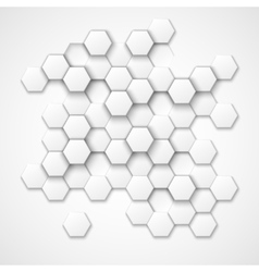 Abstract hexagonal background vector image
