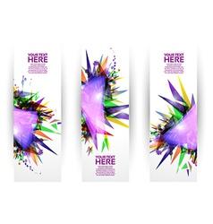 Colorful Modern Geometric Banner Set vector image