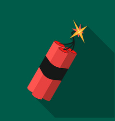 dynamite icon flate singe western icon from the vector image vector image