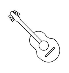 guitar traditional acoustic music thin line vector image vector image