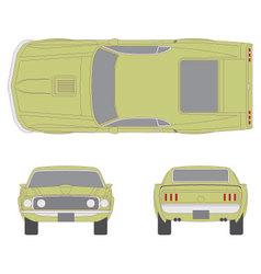 mustang car vector image vector image