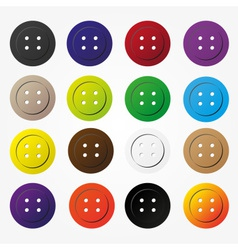 various color buttons for clothing icons set eps10 vector image