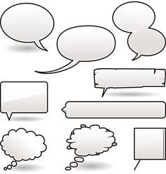 cartoon speech balloons vector image vector image