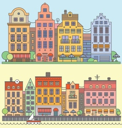 European street landscape vector image