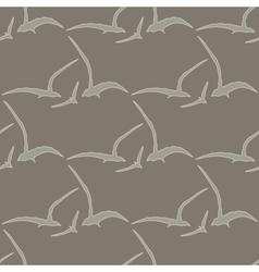 Gull seamless pattern vector