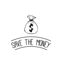 save the money design over background vector image