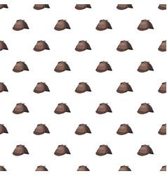 detective sherlock holmes hat pattern vector image