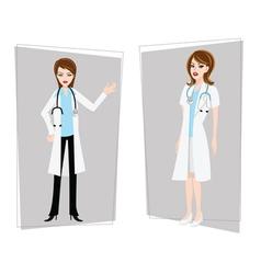 doctor nurse female vector image vector image