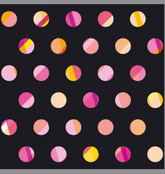 modern polka dot seamless pattern concept surface vector image vector image