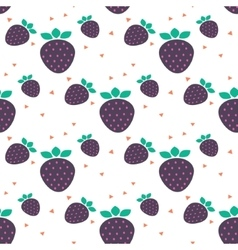 Strawberry seamless pattern with dots vector