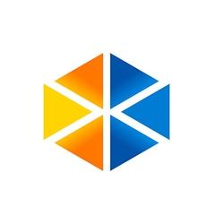 triangle shape technology logo vector image