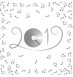 2019 music notes vector image