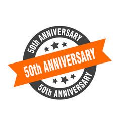 50th anniversary sign 50th anniversary round vector