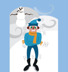 A very very cold winter vector