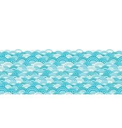 Abstract blue waves horizontal border seamless vector