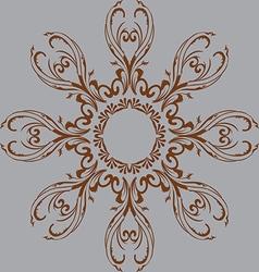 abstract design of a circular pattern vector image