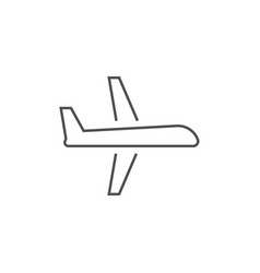 airplane related line icon vector image