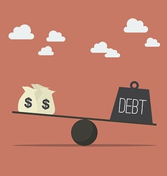 Balancing with income and debt vector