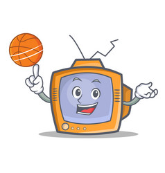 Basketball tv character cartoon object vector