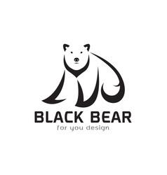 bear design on white background wild animals vector image