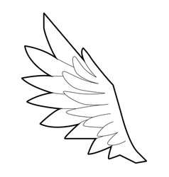 bird wing icon outline style vector image