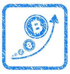 bitcoin inflation trend framed stamp vector image