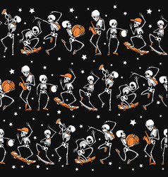 black orange dancing and skateboarding vector image