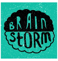 Brain Storm text vector image