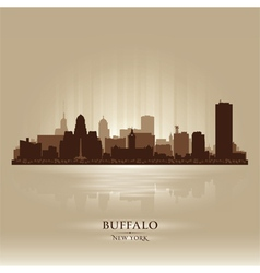 Buffalo New York skyline city silhouette vector image
