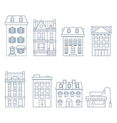 Buildings and houses in european style vector