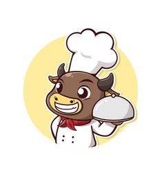 bull steak chef vector image